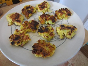 Plated Fritters