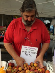 Jimmy Egoian, the proprietor of the Twin Girls Farm stall at MCM