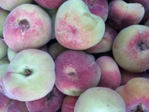 White peaches are sweeter and less acidic than yellow.