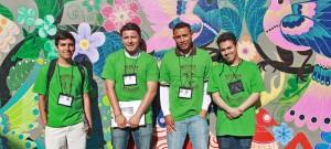 From left to right: Daniel Cortes, Giovanni Carreño, Daniel Mendoza, Ivan Castro. Not pictured: Nathaly De Leon, Susy Rojas.